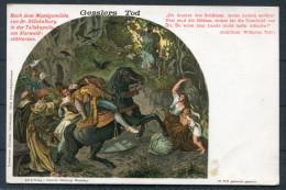 Switzerland - William Tell - Gesslers Tod - Litho Postcard - Fairy Tales, Popular Stories & Legends
