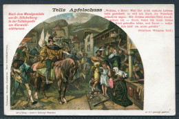 Switzerland - William Tell - Tells Apfelschuss - Litho Postcard - Fairy Tales, Popular Stories & Legends