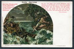 Switzerland - William Tell - Tells Sprung - Litho Postcard - Fairy Tales, Popular Stories & Legends