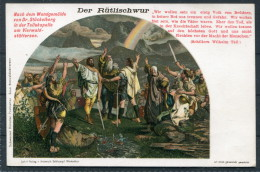 Switzerland - William Tell - Der Rutlischwur - Litho Postcard - Fairy Tales, Popular Stories & Legends