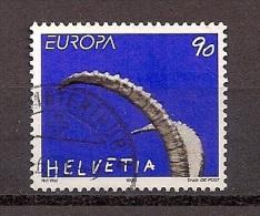 Schweiz Suisse Switzerland 1999 Gestempelt, Nr. 1685, CEPT Europa: Natur- Und Nationalparks, Steinbockhörner - Europa-CEPT