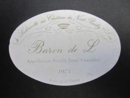 ETIQUETTE DE VIN (M55) POUILLY FUME (2 Vues) Château De Nozet - Baron De L - Vino Blanco