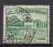 Pakistan 1962 QE2 20p Myrtle Green SG 176b.( L795 ) - Pakistan