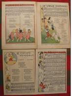 4 Vieille Ou Belle Chanson De France Illustrée. 1938, Ronde De Printemps, Le Vieux Château, Les Idées De Ma Poupée,... - Vieux Papiers