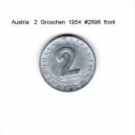 AUSTRIA   2  GROSCHEN  1954  (KM # 2876) - Austria