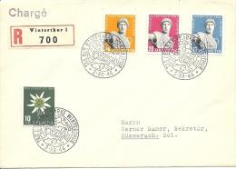 1944 Tag Der Briefmarke Satzbrief Olympiamarken Sehr Schön!! - Pro Juventute