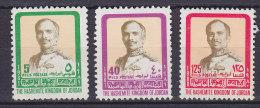 Jordan 1980-81 Mi. 1129, 1164, 1168 König Hussain (Jahreszahl 1980 Und 1981) MNG - Jordanië