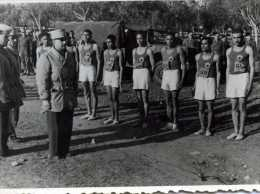 PHOTOS PHOTO MILITAIRE MILITARIA SOLDAT MAROC CASABLANCA CROSS SPORT ATHLÉTISME L'EQUIPE DU R T A - War, Military