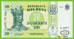 Voyo MOLDOVA 20 Lei 2010  P13i B111i  D.0077  UNC Cetatea Soroca - Moldova