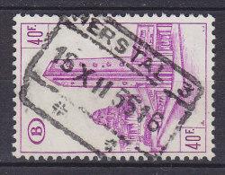 Belgium Chemin De Fer Railway Chemin De Fer Bahnhof Gare Deluxe HERSTAL 1955 Cancel !! - Bahnwesen