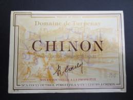ETIQUETTE DE VIN (M55) CHINON - Domaine De TURPENAY (2 Vues) Couly - Dutheil - Vino Blanco