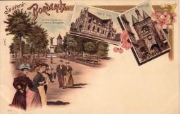 GIRONDE - BORDEAUX - CARTE PRECURSEUR SOUVENIR DE BORDEAUX - CARL KUNZLI EDITEUR ZURICH - NEUVE - RARE - Bordeaux