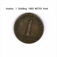 AUSTRIA   1  SCHILLING  1960  (KM # 2886) - Austria