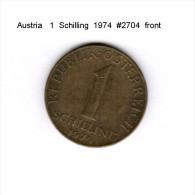AUSTRIA   1  SCHILLING  1974  (KM # 2886) - Austria
