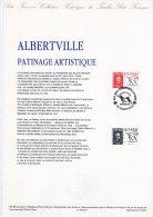 "Document Officiel 4 Pages De 1990 N° 04-90 "" J.O. ALBERTVILLE 92 : PATINAGE ARTISTIQUE "" N° YT 2633. DPO"
