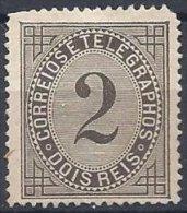 2 Reis Noir Neuf Dentelé 13.5 - 1862-1884 : D.Luiz I