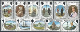 150ème Anniverssaire - Illustrations Diverses De L´histoire - Série Complète Neuve LUXE - Falkland