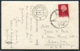 1954 Netherlands Haarlem Auto Postkantoor Esperanto Congress Postcard - Esperanto