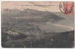 ESPAGNE CP San Sebastian  Vista Tomada Desde El Monte UliaObliteration  1906  B Bses PYRENEES - Peñón De Vélez De La Gomera