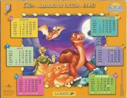 Almanach Du Facteur 2003 LE PETIT DINOSAURE - Calendars