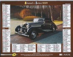 Almanach Du Facteur 2009 Bugatti Et Maybach - Calendars