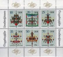 Weihnachten Im Erzgebirge 1989 DDR 3289/4 Im KB ** 3€ Leuchter-Spinne Volks-Kunst Christmas Bloc Sheet-let Bf Of Germany - Christmas