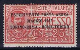 Italy: 1917, Mi 126 MNH/**, Sa Posta Aerea 1  CV 75 Euro - Poste Aérienne