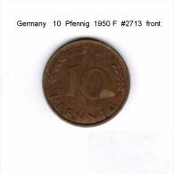 GERMANY   10  PFENNIG  1950 F  (KM # 108) - 10 Pfennig