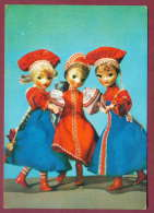 132198 / Doll Poupée Puppe By Manukhina - THREE BEAUTIFUL WOMEN Russland Rusland NATIONAL COSTUMES - Russia Russie - Jeux Et Jouets