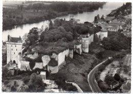 CP, 37, CHINON, Le Château Dominant La Vienne ( Vue Aérienne), écrite, Voyagé En 1963 - Chinon