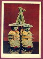 "132214 / Doll Poupée Puppe - WISH RICH HARVEST  "" Kokeshi "" Japan Japon Giappone  Folk Toys - Russia Russie Russland - Jeux Et Jouets"