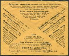1916 Sweden Lindblads Uppsala Advertising Cover To Kapten Ernst Liljedahl Riksdagens Andra Kammare, Stockholm