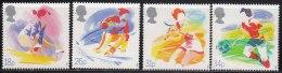 Tennis, Gynastics, Skiing, Football, Sport Organization, Great Britain MNH 1988 - Tennis