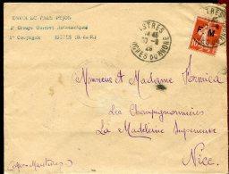 65820 H - TP FM Cad ISTRES BOUCHES DU RHONE 9 1929 Cachet  2e Groupe D'Ouvriers Aéronautiques... TB - Militaria