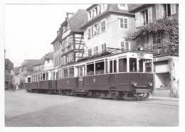 CP Moderne 67 Obernai Train Pour Strasbourg Faisant Halte En Septembre 1948 Voir DOS - Obernai