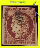 N° 6 CÉRÈS IIe RÉPUBLIQUE 1850 - OBLITÉRÉ ST / B - PC 1896 : MARSEILLE - - 1849-1850 Ceres