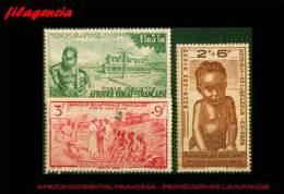 PIEZAS. AFRICA ECUATORIAL FRANCESA MINT. 1942 PROTECCIÓN DE LA INFANCIA - Nuevos