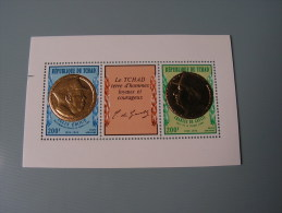 == Tschad 1971 De Gaulle Block28   In Gold  ** MNH - Tschad (1960-...)