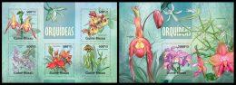 GUINEA BISSAU 2013 - Orchids - YT 4968-72 + BF896; CV = 26 € - Plants