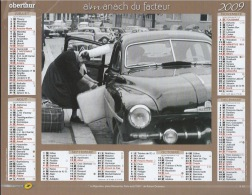 Almanach Du Facteur 2009  Robert Doisneau Et Janine Niepce - Calendars