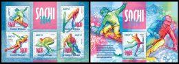 GUINEA BISSAU 2013 - Sochi 2014 - YT  4978-82 + BF 898; CV = 31 € - Skateboard