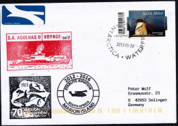 """ANTARCTIC,RSA, S.A.""""AGULHAS II"""", Voyage 007 2013 To MARION ISLAND,also With Helicopter, 3 Cachets !! - Antarktis-Expeditionen"""