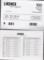 Ansichtskarten Hüllen 200-Box Neu 1€ Zum Schutz/Einsortieren Alter Karten # 881 LINDNER 155x100mm For Postcard Of World - Zubehör