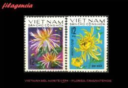 ASIA. VIETNAM DEL NORTE MINT. 1974 FLORA. CRISANTEMOS - Vietnam