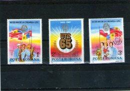 1987 - 65 Anniv. De L Union Des Jeunesses Communistes Mi 4320/4322 Et Yv 3726/3728 MNH - 1948-.... Republiken