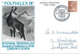"""1978. EXHIBITION POSTCARD , PHILATELIC EXHIBITION  """" POLPHILEX 78 """" - 1939-44: World War Two"""