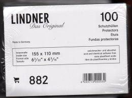 Hüllen 100-Box Neu 13€ Zum Schutz/Einsortieren Moderner Ansichtskarten # 882 LINDNER 155x110mm For New Postcard Of World - Alben & Binder