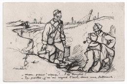 """Humour Illustrateur POULBOT  """"Mon Pauv´ Vieux!.. T Es Touché ...""""- Courrier Militaire Allemand-Feldpost-Militar Ia - 191 - Humor"""