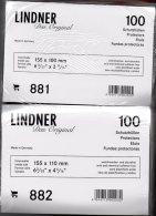 200 Hüllen #881+82 Neu 22€ Schutz/Einsortieren Alter+moderner Ansichtskarten Maß 155x100/110mm For Postcard Of The World - Materiali
