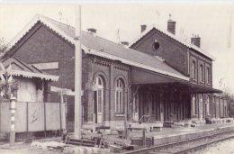 """Ecaussinnes  Et Son Passé    """"  L '  Ancienne Gare Construit En Environ 1845 Et Démolie En 1978 """" - Ecaussinnes"""